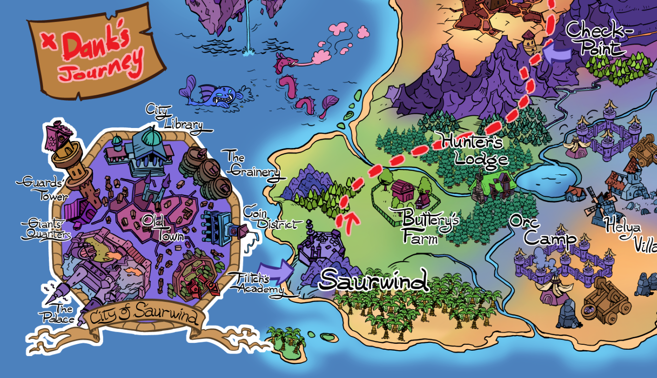 Map of the Lands of Sneaky Goblins – Tolcraft Comics